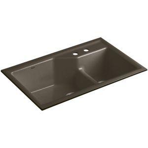 Kohler K 6411 2 20 Indio Suede  Undermount Double Bowl Kitchen Sinks