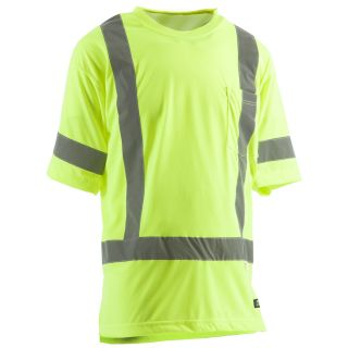 BERNE APPAREL Medium Long Safety Yellow High Visibility (Ansi Compliant) Enhanced Visibility (Reflective) T Shirt