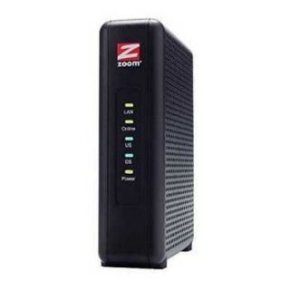 Zoom 8x4 Cable Modem, 343 Mbps DOCSIS 3.0, Model 5345, Certified by Comcast XFINITY, Time Warner Cable and Other Service Provide