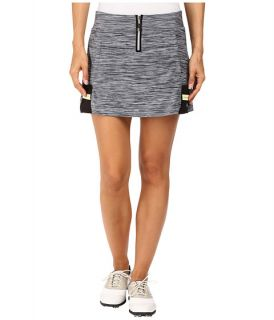 Jamie Sadock Marled Knit 14 in. Pull On Skort Heathered Black/White