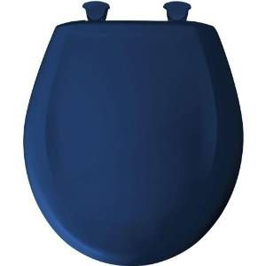 Church 200SLOWT 364 Universal Colonial Blue  Toilet Seats Round Bathroom Accessories