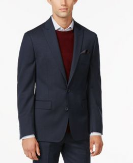 Ryan Seacrest Distinction Slim Fit Blue Pindot Jacket, Only at