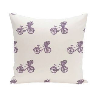Bicicleta Geometric Print Outdoor Pillow by e by design