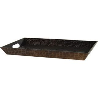 "10 Strawberry Street 18"" x 12"" Rectangular Serving Tray, Patent Crocodile"