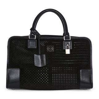 catalog product l o loewe a suede leather handbag black 359
