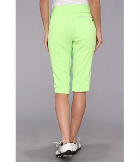 Jamie Sadock Skinnylicious 24 In Knee Capri With Control Top Mesh Panel Green Fizz,