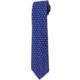 Davidoff 100 percent Silk Blue/ Grey Plane Neck Tie   18195722