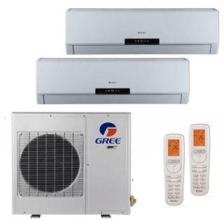 GREE Multi 21 Zone 18,000 BTU 1.5 Ton Ductless Mini Split Air Conditioner with Heat, Inverter, Remote   208 230 Volt/60Hz MULTI18HP200