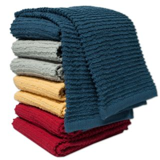 100 percent Cotton Ribbed Kitchen Towels (Set of 2)   17749727