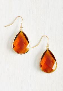 Receiving Drop Honors Earrings in Honey  Mod Retro Vintage Earrings