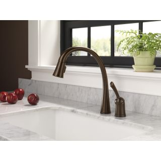 Delta Pilar Pull Down Single Handle Widespread Kitchen Faucet with