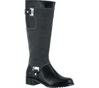 Womens Bella Vita Anya II Boot   Black PU/Grey Flannel