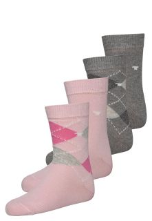 TOM TAILOR 4 PACK   Socks   lilac rose/grey melange