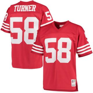 Keena Turner San Francisco 49ers Mitchell & Ness Retired Player Replica Jersey   Scarlet