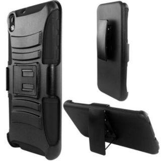 Insten Hard Hybrid Case w/Holster Stand For ZTE ZMax   Black
