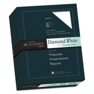 """Southworth 25 Percent Cotton Diamond White Paper   8 1/2"""" x 11"""", 500/Box"""