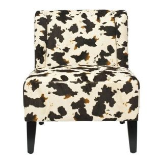 Safavieh MCR5007B Ashby Parker Lounge Chair in Cow