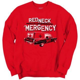 Funny Redneck Life Clothing Mens Fishing Hunting Crewneck Sweatshirt by Brisco Brands