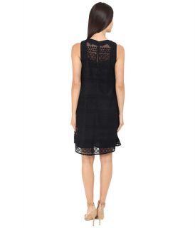 Donna Morgan Sleeveless Novelty Woven Trapeze Dress
