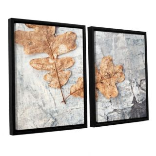 Still Life Two Leaves by Elena Ray 2 Piece Floater Framed Photographic