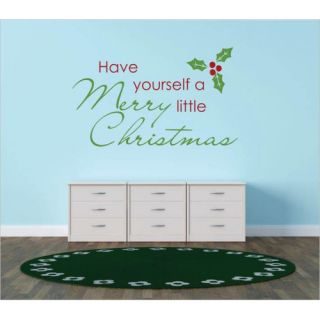 Have Yourself a Merry Little Christmas Wall Decal by Design With Vinyl