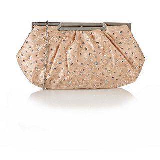 Lotus Nude satin Magena handbags
