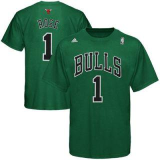 adidas Derrick Rose Chicago Bulls Irish Name And Number T Shirt   Kelly Green