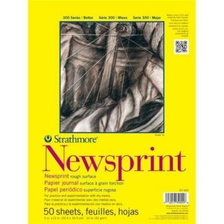 "Strathmore 300 Series 24"" x 36"" Rough Tape Bound Newsprint Pad"