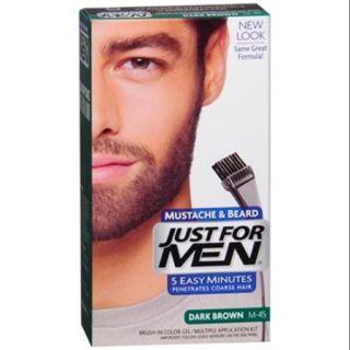 JUST FOR MEN Color Gel Mustache & Beard M 45, Dark Brown 1 Each (Pack of 6)