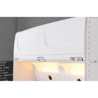 First Class Airplane Twin Extra Long Panel Customizable Bedroom Set by