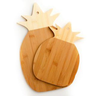 Cooks Corner 100 percent Real Bamboo Pineapple Shaped Cutting Board