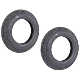 "Two Trailer Tires For Utility Cart ATV Lawn 4.80 12 480 12 4.8"" X 12"" Load B"