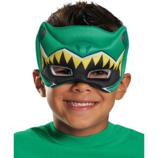 Green Ranger Dino Charge Puffy Mask Child Halloween Accessory