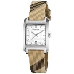 Burberry Womens Nova Check Nylon Leather Strap Watch   13975749