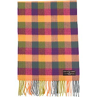 D&Y by David & Young Softer than Cashmere   Multi Checker Scarf