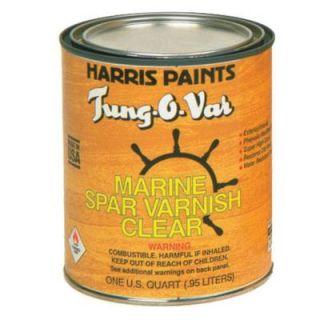 Harris Tung O Var 1 qt. Spar Varnish Clear 31111