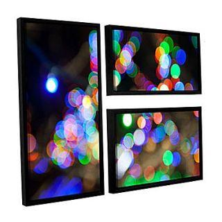 ArtWall Bokeh 2 3 Piece Canvas Flag Set 24 x 36 Floater Framed (0yor006g2436f)