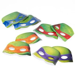 Teenage Mutant Ninja Turtles Party Masks, 8 Count, Party Supplies