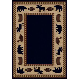 Orian Rugs Camp Evening Navy Rectangular Indoor Machine Made Lodge Area Rug (Common: 8 x 10; Actual: 94 in W x 120 in L)
