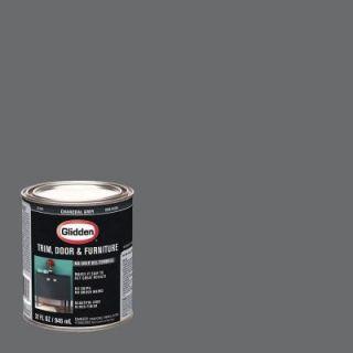 Glidden Trim and Door 1 qt. Charcoal Grey Gloss Interior/Exterior Oil Paint GL 309  04