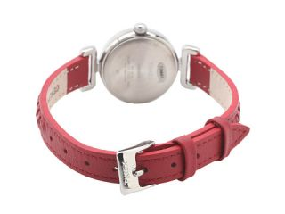 timex weekender petite casual red woven strap white silver red
