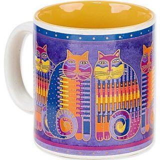 Laurel Burch Artistic Collection Mug, Rainbow Cat Cousins