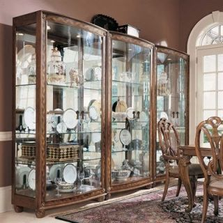 American Drew 582 856 Bob Mackie Home Classics Bunching China Curio Cabinet in Burnished Nutmeg