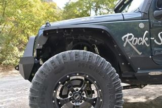 Rock Slide Engineering   Crawler Front Fender Flares   Fits 2007 to 2016 JK Wrangler, Rubicon and Unlimited