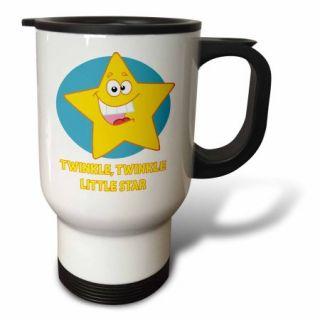 3dRose Cute Twinkle Twinkle Little Star Cartoon For Kids, Travel Mug, 14oz, Stainless Steel