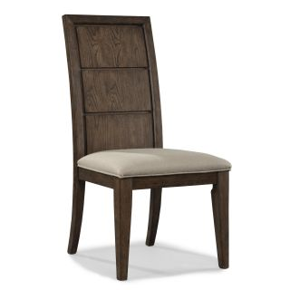 Legacy Classic Furniture 1657 140 KD The Wave Wood Back Side Chair in Sable with Upholstered Seat Set of 2