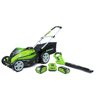 GreenWorks G MAX 40V 19 Lawn Mower and Blower Combo Lawn Kit