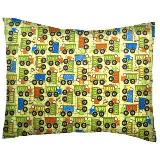 Sheetworld Construction Trucks Cotton Percale Crib/Toddler Pillow Case