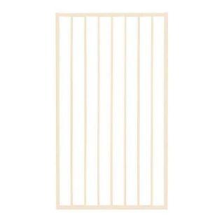 First Alert Premium Series 3 ft. W x 3.6 ft. H White Steel Fence Gate G3GHDG39X44W