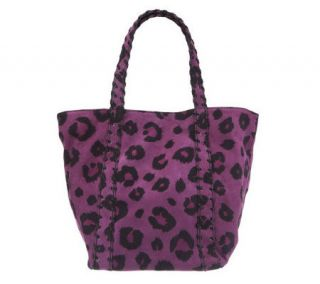 Kelsi Dagger Ryan Leopard Print Double Strap Shoulder Bag —